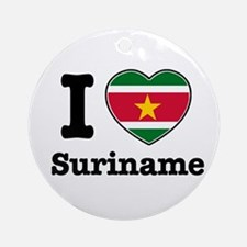 I love Suriname Ornament (Round)