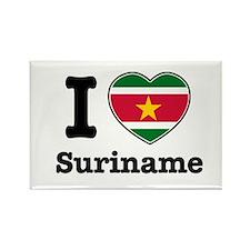 I love Suriname Rectangle Magnet