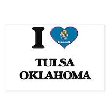 I love Tulsa Oklahoma Postcards (Package of 8)