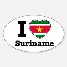I love Suriname Oval Decal