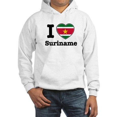 I love Suriname Hooded Sweatshirt