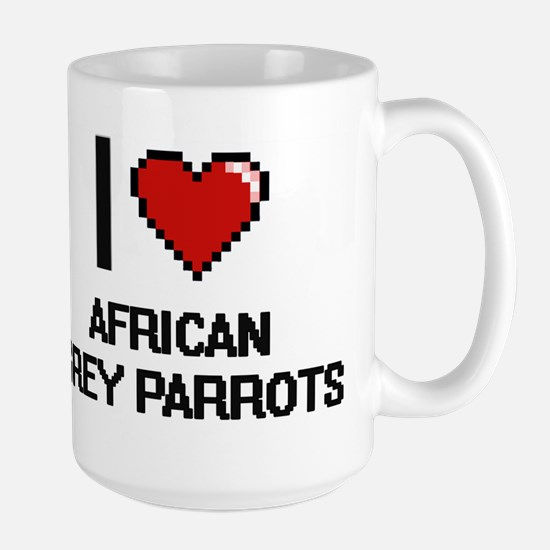 I love African Grey Parrots Digital Design Mugs