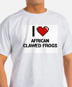 I love African Clawed Frogs Digital Design T-Shirt