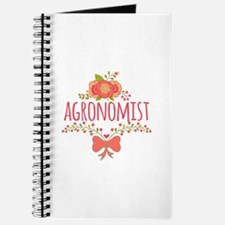 Cute Floral Occupation Agronomist Journal