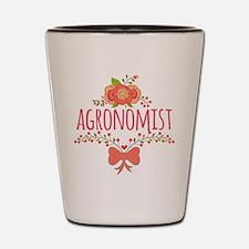 Cute Floral Occupation Agronomist Shot Glass