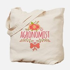 Cute Floral Occupation Agronomist Tote Bag