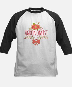 Cute Floral Occupation Agrono Tee