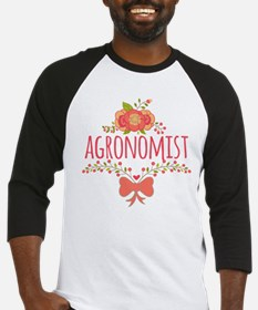 Cute Floral Occupation Agronomist Baseball Jersey