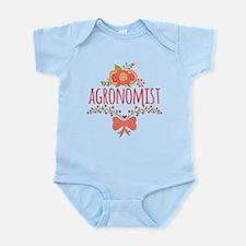 Cute Floral Occupation Agronomist Infant Bodysuit