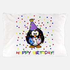 Birthday Penguin Pillow Case