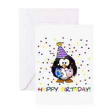 Birthday Penguin Greeting Cards