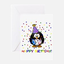 Birthday Penguin Greeting Cards