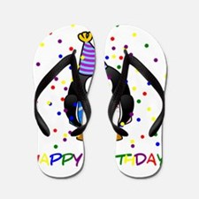 Birthday Penguin Flip Flops