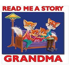 Read Me a Story Grandma Poster