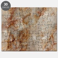 Realistic Brown Faux Marble Stone Pattern Puzzle