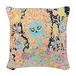 Muerta Lisa Woven Throw Pillow