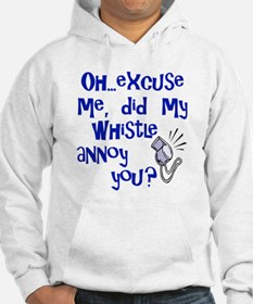 Whistle Annoy Hooded White Sweatshirt