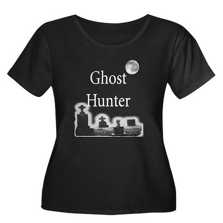 Ghost Hunter Women's Plus Scoop Neck Dark T-Shirt