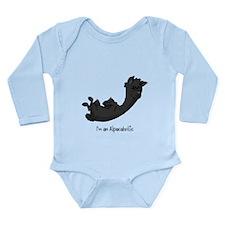 Rolling Black Alpaca Long Sleeve Infant Bodysuit