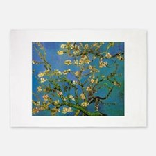 Blossoming Almond Tree by Vincent v 5'x7'Area Rug