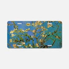 Blossoming Almond Tree by V Aluminum License Plate