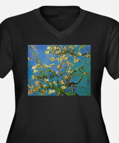 Blossoming Almond Tree by Vincen Plus Size T-Shirt