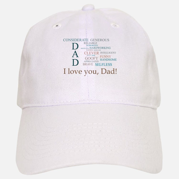 I love you, Dad! Baseball Baseball Baseball Cap