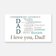 I love you, Dad! Rectangle Car Magnet