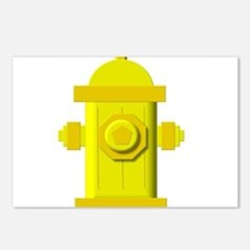 Yellow fire hydrant Postcards (Package of 8)