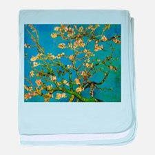 Blossoming Almond Tree by Vincent van baby blanket