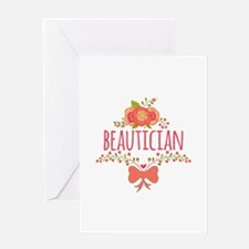 Cute Floral Occupation Beautician Greeting Card