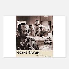 Moshe Dayan Israeli Army Postcards (Package of 8)