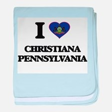 I love Christiana Pennsylvania baby blanket
