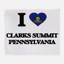 I love Clarks Summit Pennsylvania Throw Blanket