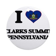 I love Clarks Summit Pennsylvania Ornament (Round)