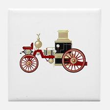 Fire truck vintage Tile Coaster