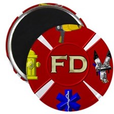Fire department symbol Magnets