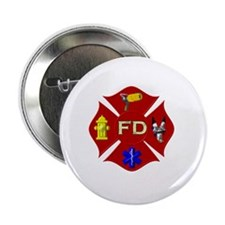 "Fire department symbol 2.25"" Button"