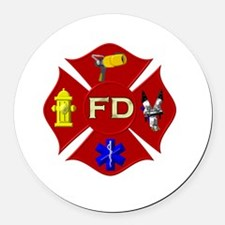 Fire department symbol Round Car Magnet