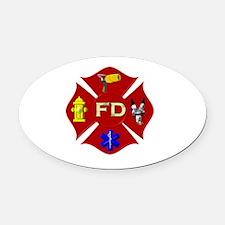Fire department symbol Oval Car Magnet