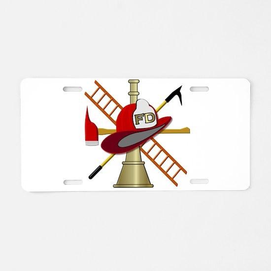 Fire department symbol Aluminum License Plate