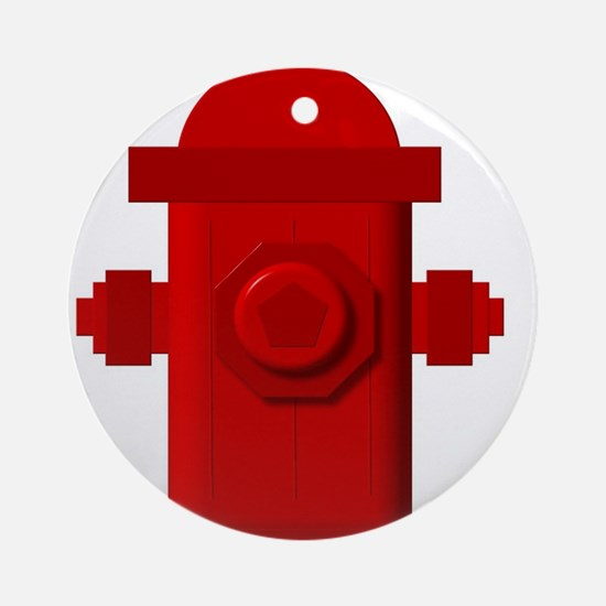 Red fire hydrant Ornament (Round)
