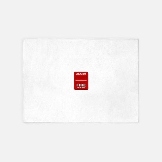 Alarm box red 5'x7'Area Rug