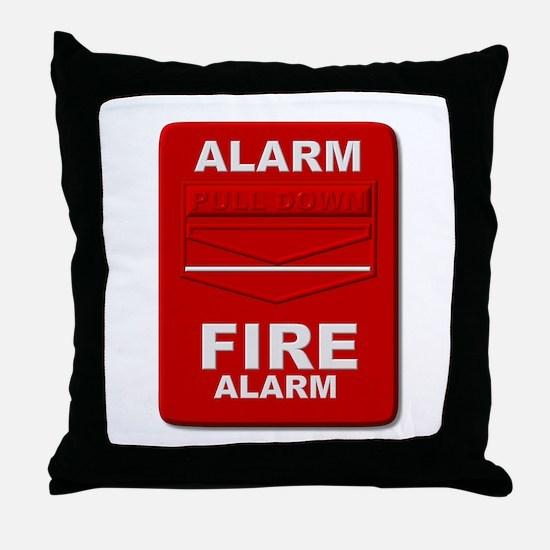 Alarm box red Throw Pillow