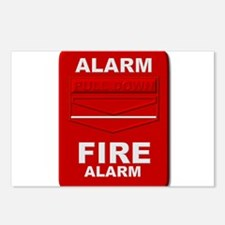 Alarm box red Postcards (Package of 8)