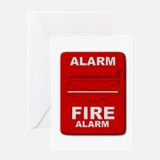Alarm box red Greeting Cards