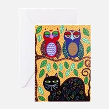 Autumn owls Greeting Cards