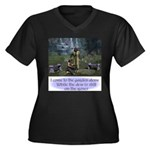 In the GardenWomen's Plus Size V-Neck Dark T-Shirt