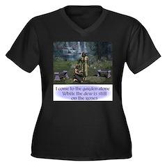 In the GardenWomen's Plus Size V-Neck Dark T-Shirt