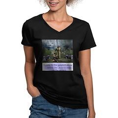 In the Garden - Women's V-Neck Dark T-Shirt